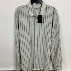7 For All Mankind Mens Long Sleeve Button Shirt